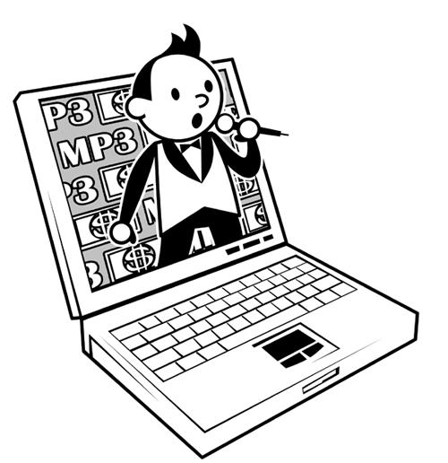 笔记本 笔记本电脑 简笔画